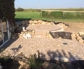 circle to square patio
