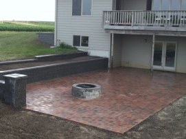 built in fire pit