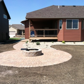 circular fire pit area